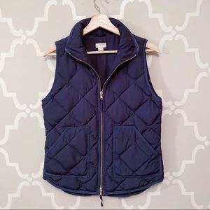 J. Crew Navy Puffy Quilted Vest
